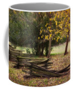Fence And Tree In Autumn Coffee Mug