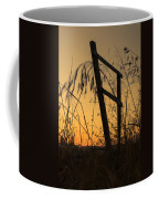 Fence At Sunset I Coffee Mug