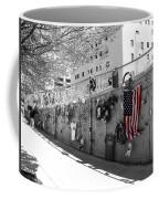 Fence At The Oklahoma City Bombing Memorial Coffee Mug