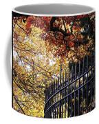 Fence At Woodlawn Cemetery Coffee Mug