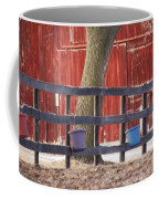 Fence Full Of Buckets Coffee Mug