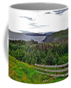 Fence In Fields At Long Point In Twillingate-nl Coffee Mug