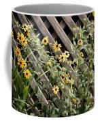 Fence Lined Wildflowers Coffee Mug