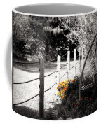 Fence Near The Garden Coffee Mug by Julie Hamilton