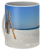 Fence On The Beach Coffee Mug
