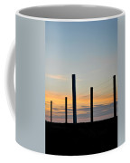 Fence Posts At Sunset Coffee Mug