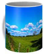 Fence Row And Clouds Coffee Mug