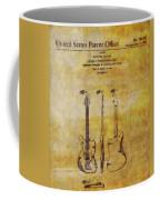 Fender Guitar Patent On Canvas Coffee Mug