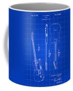 Fender Guitar Patent 1951 - Blue Coffee Mug