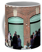 Fenway Park - Fans And Locked Gate Coffee Mug by Frank Romeo