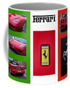 Ferrari Collage On Italian Flag Coffee Mug