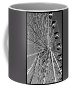 Ferris Wheel In Black And White Coffee Mug