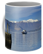 Ferry Boat On An Alpine Lake Coffee Mug