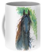 Ferryt Polish Black Arabian Horse Coffee Mug