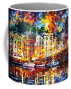 Few Boats - Palette Knife Oil Painting On Canvas By Leonid Afremov Coffee Mug