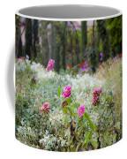 Field Of Flowers On A Rainy Day Coffee Mug