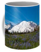 Field Of Lupines And Rainier Coffee Mug