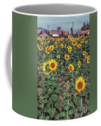 Field Of Sunflowers Coffee Mug by Adrian Evans