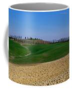Field With Cypress Trees Coffee Mug