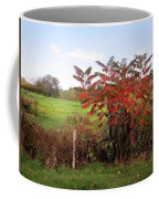 Field With Sumac In Autumn Coffee Mug