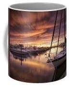 Fiery Sunset At Stuart Marina Coffee Mug