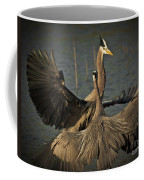 Fighting Great Blue Herons Coffee Mug