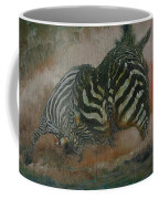 Fighting Zebras Coffee Mug