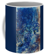 Figures On A Bridge Oil On Canvas Coffee Mug
