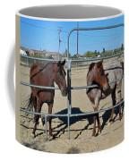 Fillies At The Gate Coffee Mug