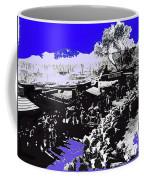 Film Homage Arizona 1940 Publicity Photo Cattle Drive Main Street Old Tucson 1940-2008 Color Added Coffee Mug