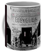 Film Homage Butch Cassidy 1969 Russell And Sheldon Bicycles C.1895 Tucson Arizona 2008 Coffee Mug