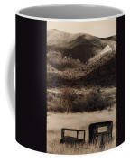 Film Homage End Of The Road 1970 Bisected Car Ghost Town Dos Cabezos Arizona 1967-2008 Coffee Mug