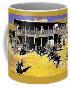 Film Homage Extras Unknown Production Old Tucson Arizona Color Added Coffee Mug