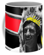 Film Homage Jean-paul Belmondo  Fake Indian Bonnet Love Is A Funny Thing  Old Tucson Az 1969-2008 Coffee Mug