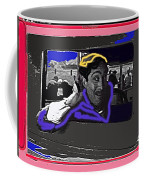 Film Homage Julian Rivero Burn 'em Up Barns 1934 Mascot Serial Collage Screen Capture 2008 Coffee Mug