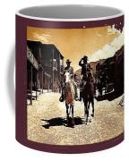 Film Homage Mark Slade Cameron Mitchell Riding Horses The High Chaparral Old Tucson Arizona Coffee Mug