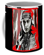 Film Homage Rudolph Valentino The Shiek 1921 Collage Color Added 2008 Coffee Mug