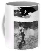Film Noir Born To Kill 1947 2 Mike Bowan Fast Draw Artist Tucson Arizona 1974 Black And White Coffee Mug