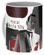 Film Noir David Janssen The Fugitive Santa Rita Hotel Front Xmas Tucson 1963 Color Added 2009 Coffee Mug