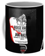 Film Noir Jim Thompson The Grifters 1990 2 Horse Dog Tracks Sign Juarez 1977 Coffee Mug