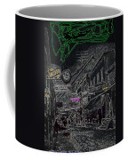 Film Noir Lee Marvin Sylvia Sidney Violent Saturday 1956  C.1885 Bisbee Az Drawing Color Added 2008 Coffee Mug
