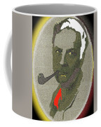 Film Noir Mystery Writer Raymond Chandler Vignetted Texture Color Added 2013 Coffee Mug