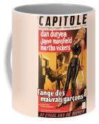 Film Noir Poster  The Burglar Jane Mansfield Coffee Mug