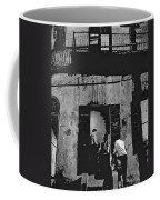 Film Noir Richard Widmark Panic In The Streets 1950 New Orleans Publicity Photo Black And White Coffee Mug