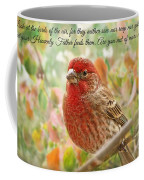 Finch With Verse New Version Coffee Mug