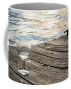 Finger Lakes Wine Tasting - Wine Glass On The Dock Coffee Mug