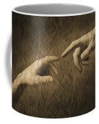 Fingers Almost Touching Coffee Mug