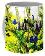 Fir Tree Buds Abstract Coffee Mug