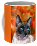 Fire And Ice - Siamese Cat Painting Coffee Mug