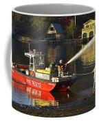 Fire Boat Coffee Mug by Susan Leggett